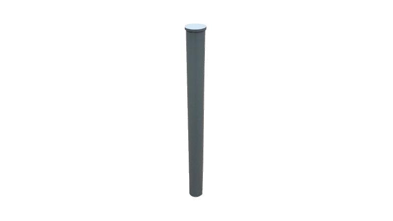 Poteau TRISTAN - Ø76 mm ou Ø88.9 mm - Haute visibilité PMR