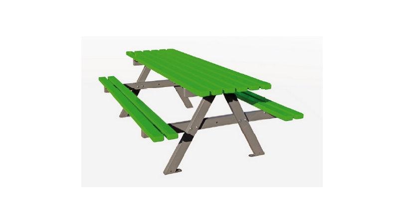 Table pique-nique PLUTON  - En lames de métal