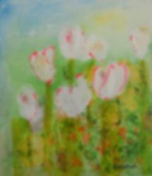 STLF Tulip Field 15X15 Acrylic on board