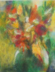 STLF Shadow Vase 16X20 Acrylic and charc