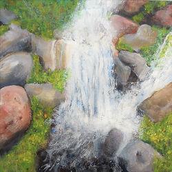 LND Maui Waterfall 10x10 Acrylic on canv
