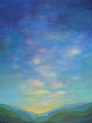 SKY Sunrise Hills 18X24 Acrylic on canva