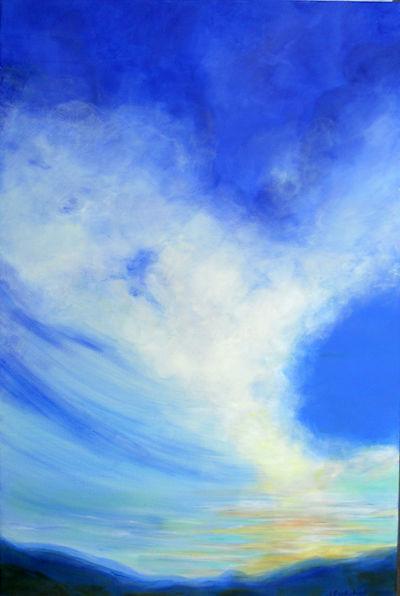 SKY Clouds III 24X36 Acrylic on canvas.j