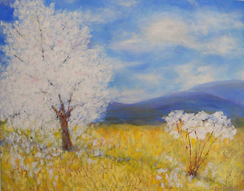 LND Spring Trees 11X14 Acrylic on canvas