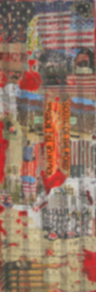 MXM South of the... 12X36 Mixed Media on