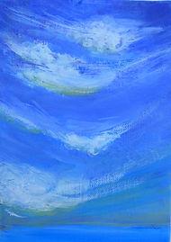 SKY SeaClouds 5X7 Acrylic on canvas (S).