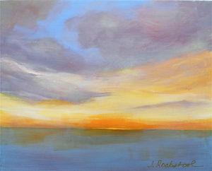 SKY Glimmer 12X14 Acrylic on canvas.JPG