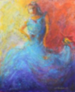 FEM BirdWoman4 20X24 Acrylic on canvas.J