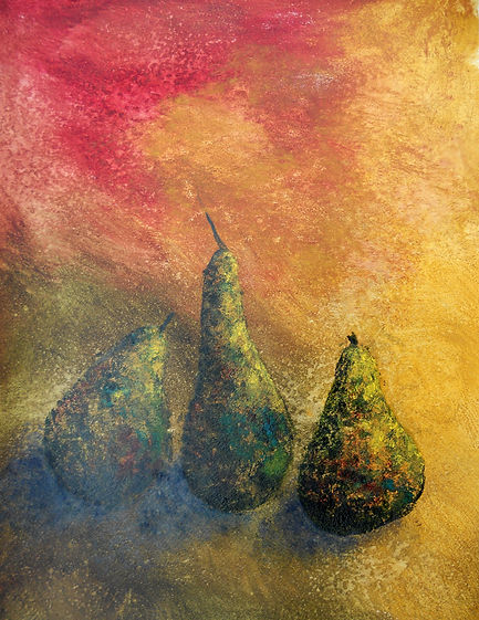STL Pears 3 24X36 Acrylic Monoprint on p