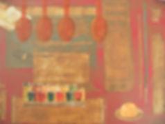 CBS1 Spoons 12X16 Mixed Media on canvas_