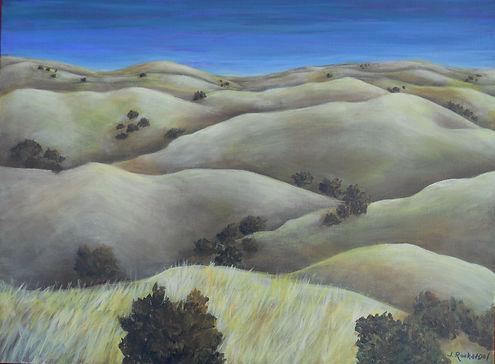 LND Ca Hills Winter 18X24 Acrylic on can