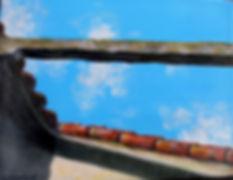 CBA Looking Up, Las Terrazas 6X8 Acrylic