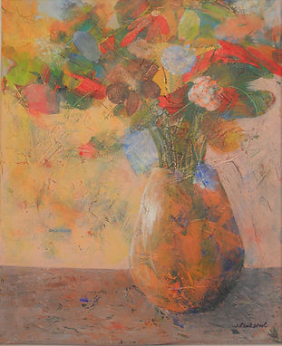 ABSF Morning Flowers 16X20 Mixed Media o