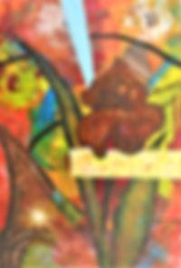 ABSF Iris 7.5X11 Mixed Media on board (S
