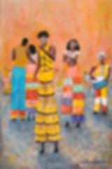 CBA Stiltwalkers, Old Havana 6X9 Acrylic