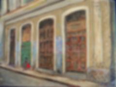 CBA Waiting, Old Havana 6X8 Acrylic on c