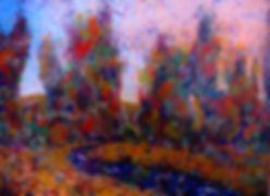 LND Trees & Creek Dusk 18X24 Acrylic.JPG