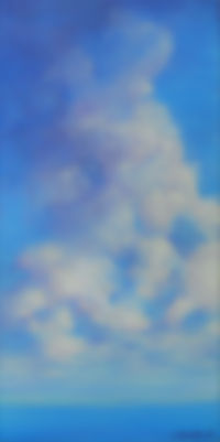 SKY Clouds IV 12X24 Acrylic on cnavas.jp