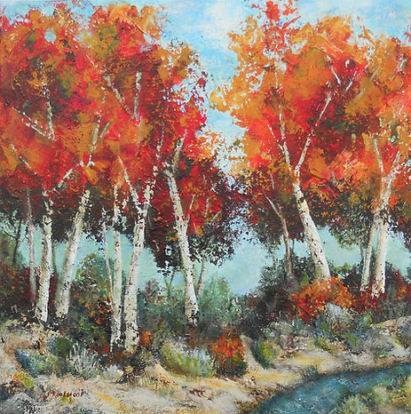 LND Birch Rave 22X22X2 Acrylic on canvas