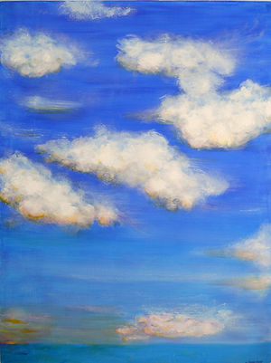 SKY Clouds II 18X24 Acrylic on canvas (S