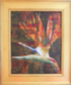 STLF Bird of Paradise 22X26  Acrylic on