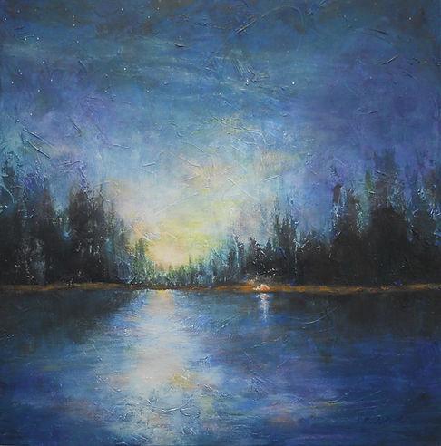 LND Stars 24X24 Acrylic on canvas.JPG