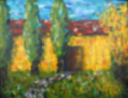 LND Italian Barn 18X24 Acrylic on canvas