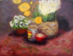 STL Basket Flowerws 12X16 Acrylic on can