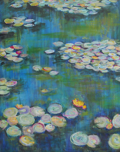 LND Waterlilies2 22X28 Acrylic on canvas