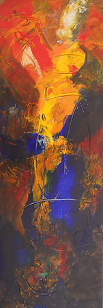 CRC Fire Eater 10X30 Acrylic on canvas.J