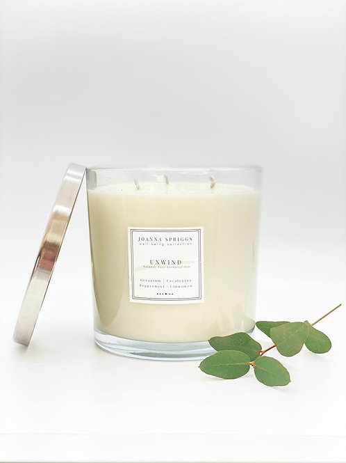 UNWIND: Calming, relaxing & grounding | 3 Wick Candle