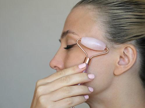 Rose Quartz Facial Roller & Gua Sha set