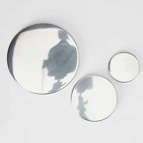 Silver & Bronze Candle Lids