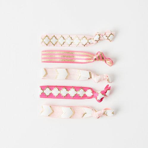 Luxe Hair Ties - Pinks