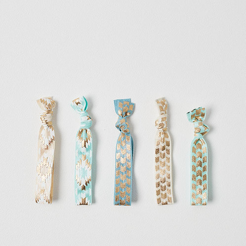 Luxe Hair Ties - Aquas