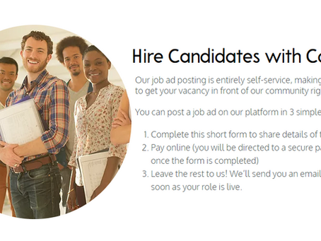 Our New Job Ad Service!