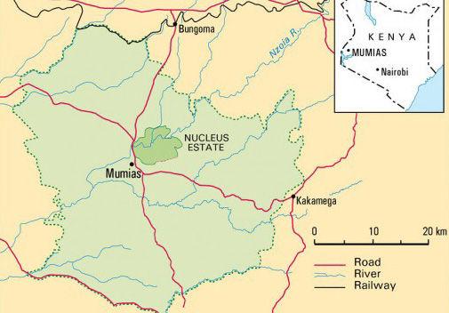 Map of Mumias, Kenya