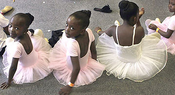 Black girls in tutus