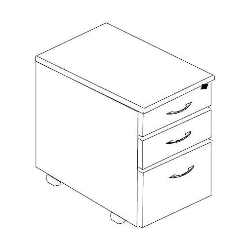 Wood Laminate Mobile Drawer Pedestal
