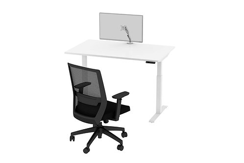 Height Adjustable Desk, Chair & Monitor Arm Set