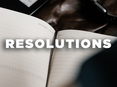 Pastor Brad's New Year's Resolutions