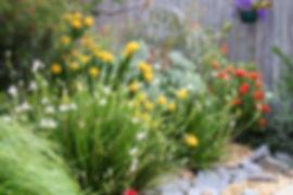 Landscaping flower garden