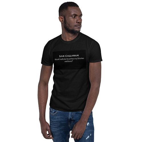 Black Short-Sleeve 'Stitches & Scars' Unisex T-Shirt