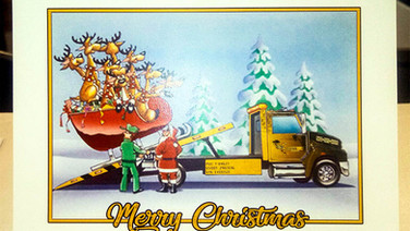 BusyBee Towing Christmas Card 2019