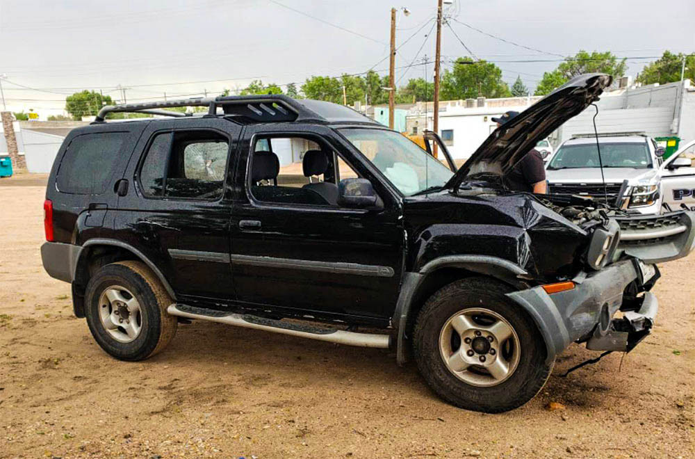 Vehicle that was in an accident - Greeley, Colorado.
