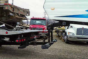 Towing a 5th Wheel Camping Trailer.