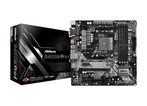 ASRock B450M Pro4 AM4 AMD Promontory Motherboard