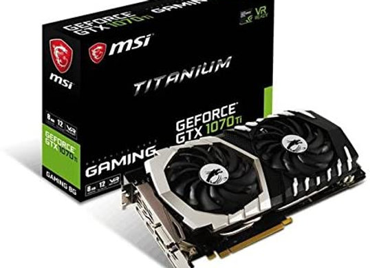 MSI Gaming GeForce GTX 1070 Ti 8GB GDRR5 256-bit HDCP Support DirectX 12