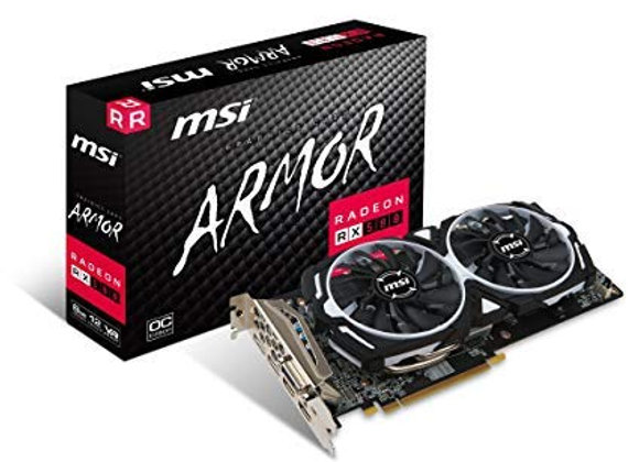 MSI Armor Radeon RX 580 Overclocked Dual-Fan 8GB GDDR5 PCIe Video Card