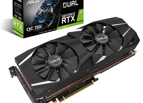ASUS GeForce RTX 2080 Ti O11G Dual-fan OC Edition GDDR6 HDMI DP 1.4 USB Type-C